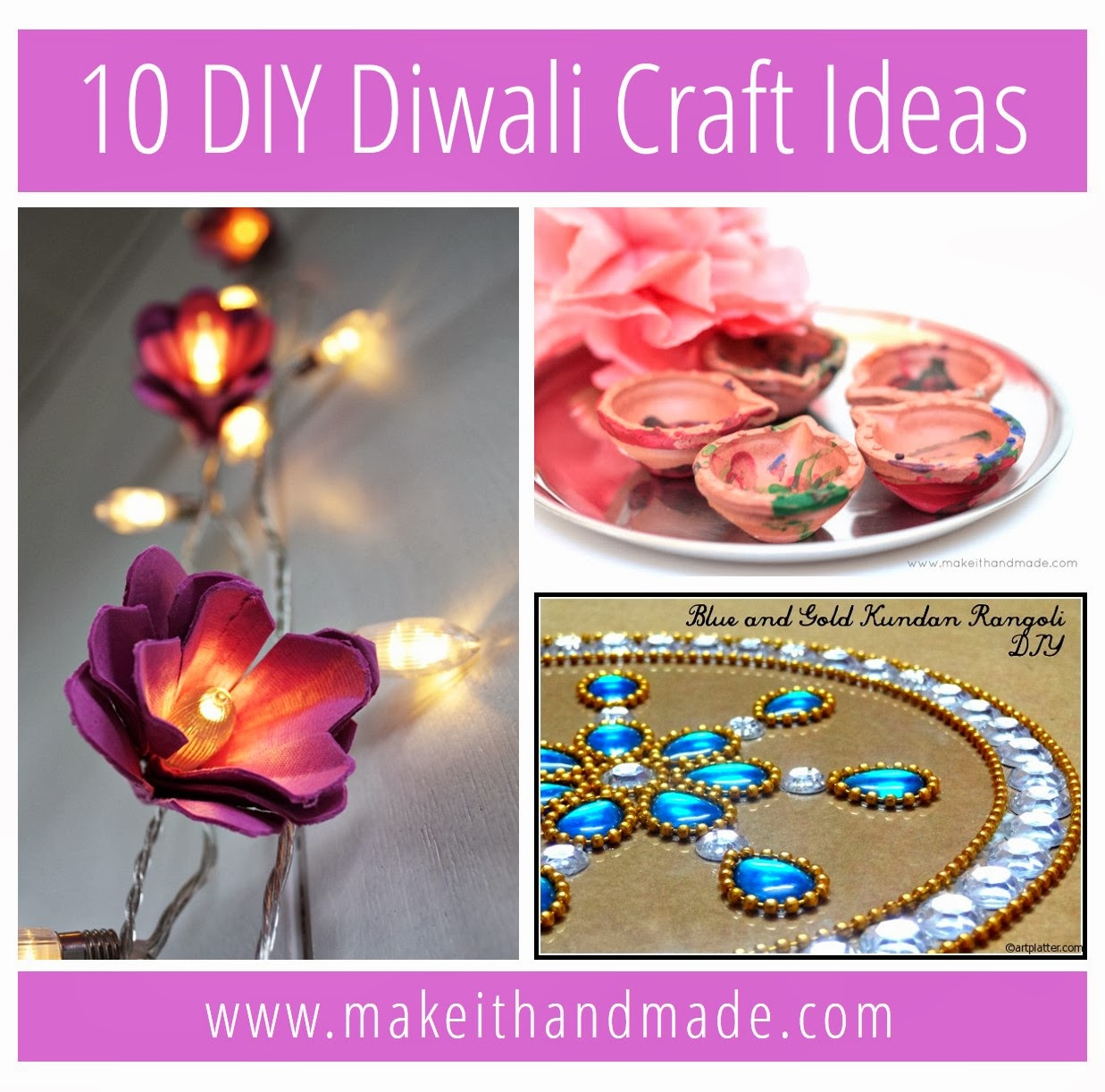 Diwali Decoration Ideas And Crafts Make It Handmade 10 Diy Diwali Craft Ideas
