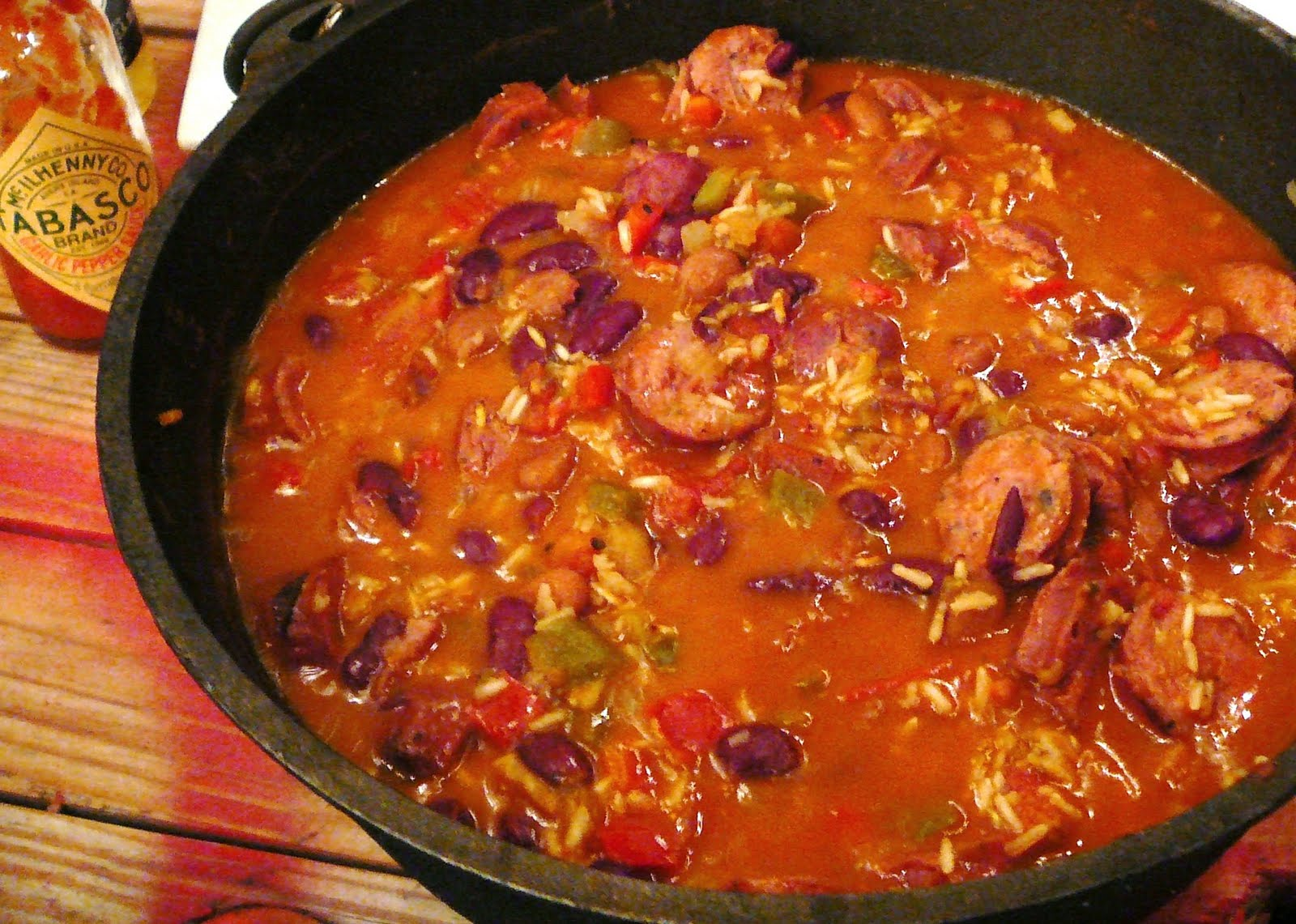 Dutch oven red beans and rice