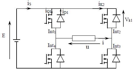 Schéma d'un Hacheur en H
