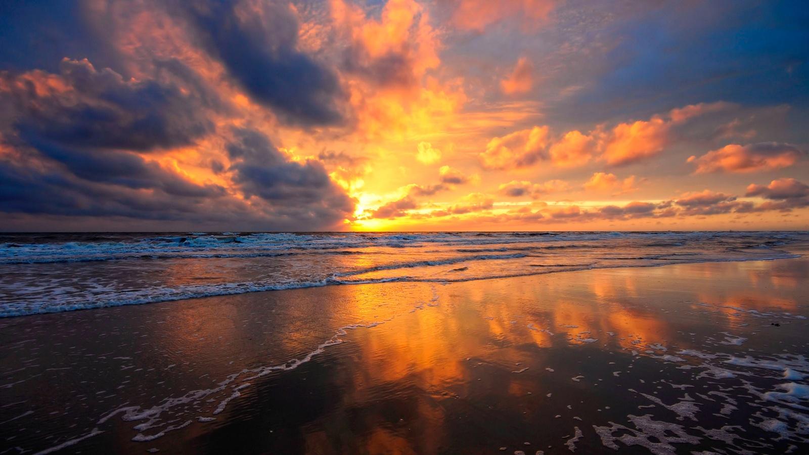 sunset beach nature sea - photo #14