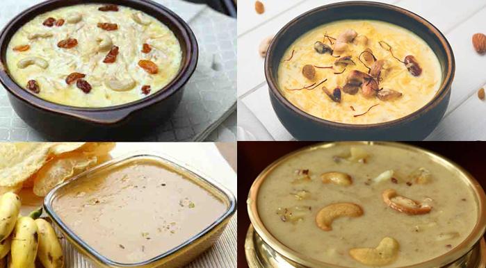 Kheer or Payasam, Onam Special, Kerala tasty desserts