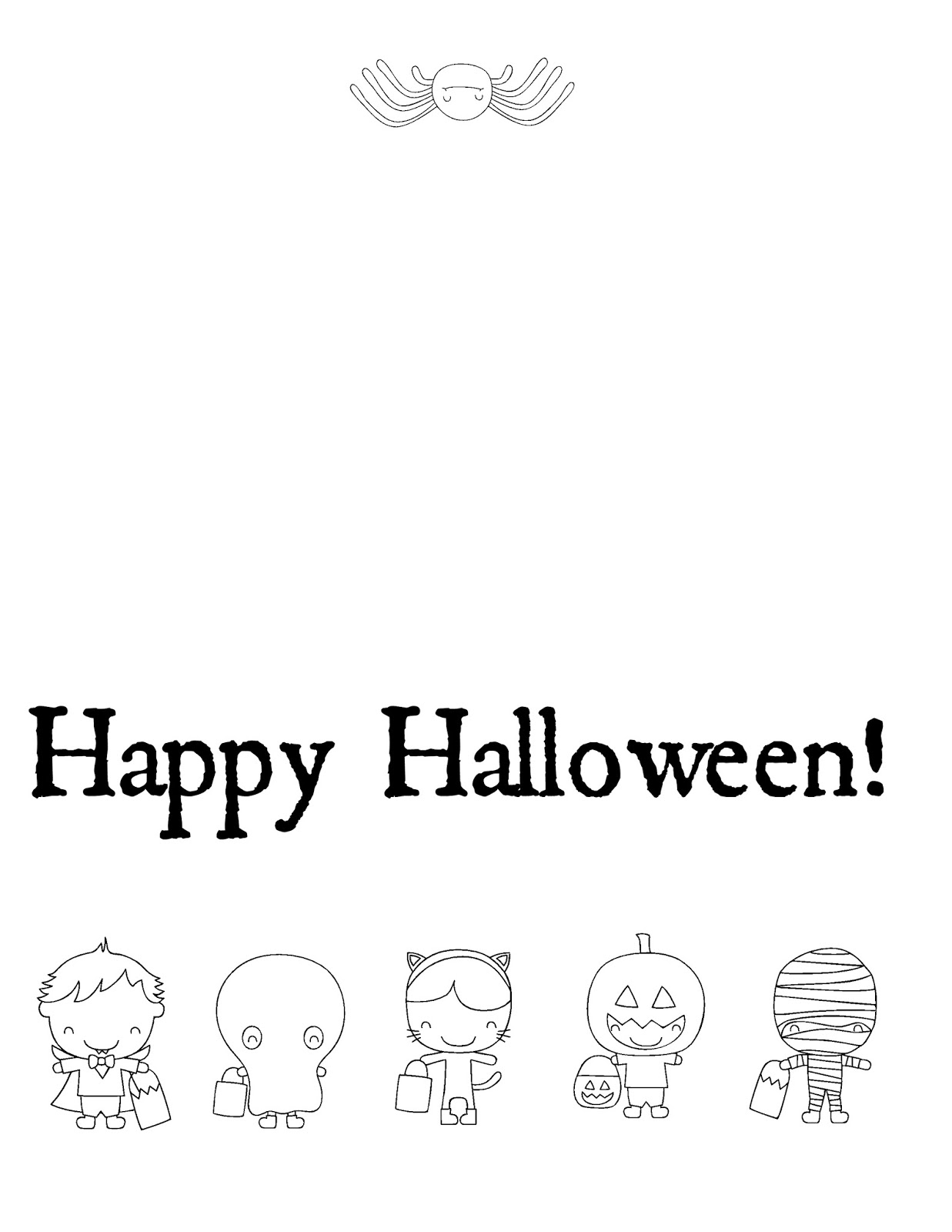 Persnickety image with regard to printable halloween card