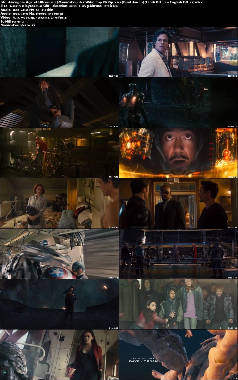 Screen Shots Avengers: Age of Ultron 2015 Dual Audio HD 720p