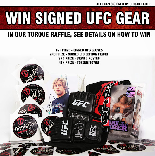 FIGHTSTOREPRO.com launch event! WIN SIGNED URIJAH FABER GEAR!