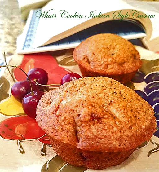 this is a bing cherry muffins made from scratch