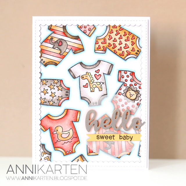 Fan Feature Week - Day 2 | Card by Annikarten using Loveable Laundry Stamp Set by Newton's Nook Designs #newtonsnook #handmade