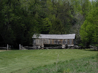 Cades cove has a superb collection of old barns of many styles.