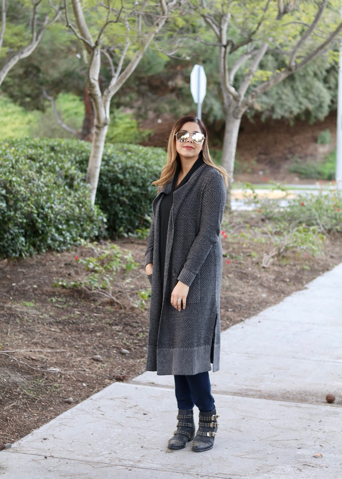 Chunky long sweater and jeans outfit, san diego fashion blogger, cabi scoop san diego