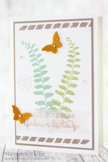 Stampinup Schmetterlingsgruß, Stampin Up Stempelpartyprojekt, Stempelpartykarte, Stempel-biene, Stampin Up Winterkatalog 2015, Stampin Up sonderangebote