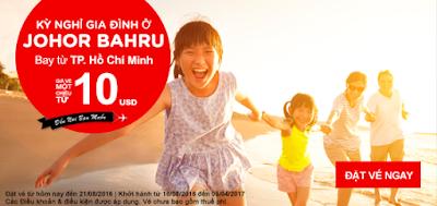 bán vé máy bay khuyến mãi Air Asia bay thả ga đi Johor Bahru