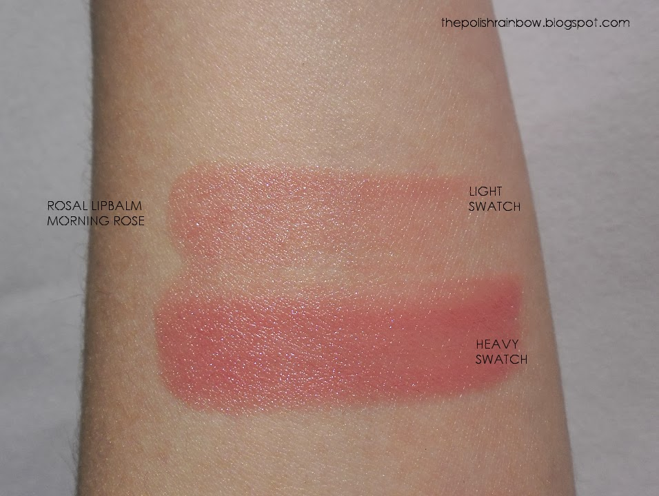 The Polish Rainbow: Review: Rosal Ink Lip Balm Morning Rose