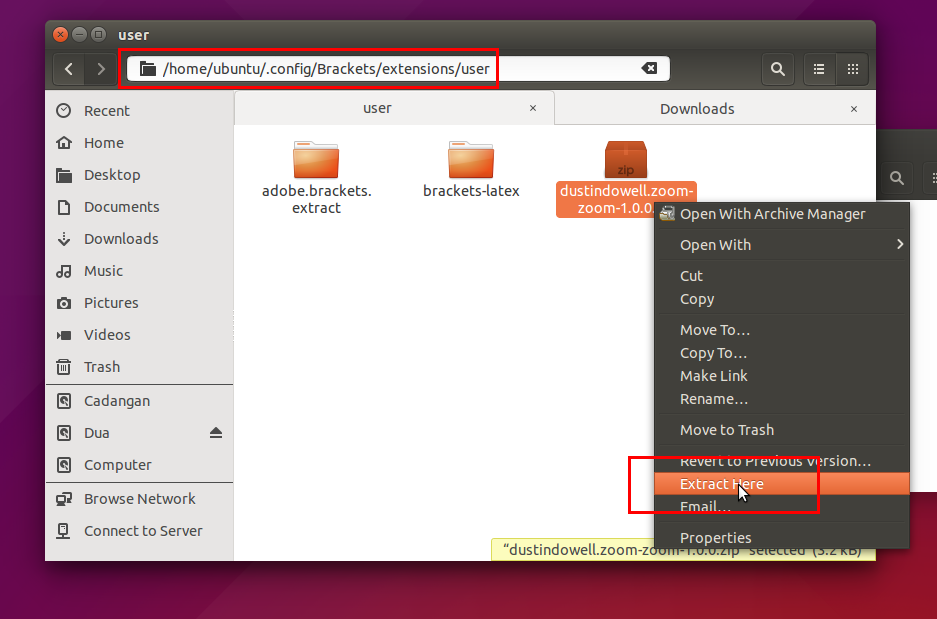 Ubuntu Buzz !: How To Install Extensions for Adobe Brackets