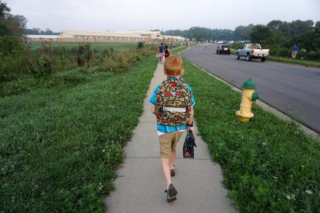 Porter Walking to School