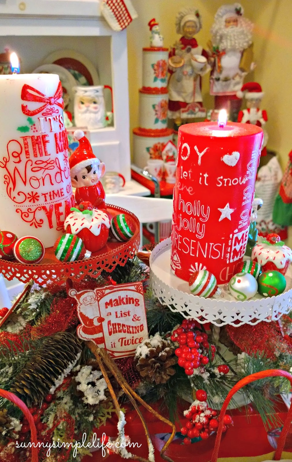 Christmas elves, cozy Christmas decor