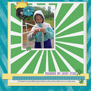 Ginger Scraps Challenge and Freebie - A Year of Blessings! March 2019 and Free Kit by Blue Heart Scraps