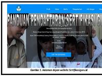 Panduan Pendaftaran sertifikasi Guru