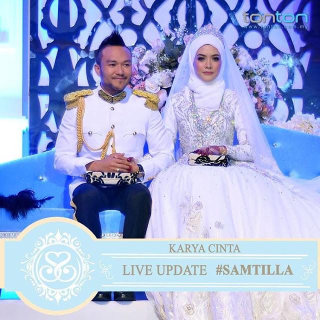gambar perkahwinan Shaheizy Sam dan Syatilla Melvin