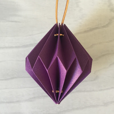 Finished origami lantern.  FromTutorial using Silhouette Cameo by Nadine Muir from Silhouette UK Blog