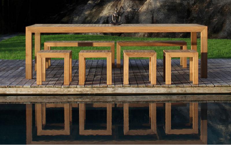 Tavolo in teak allungabile IXIT di Royal Botania