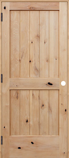 Pacific-Entries-door-alder-knotty-farmhouse-plank-wood-panel-hello lovely