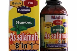 Jual Khasiat Madu  Batuk  Flu Pilek 8 In1 As Salamah Orisinil Original