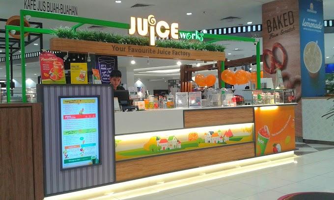 Tebus Baucer Juice Works di Aeon Klebang