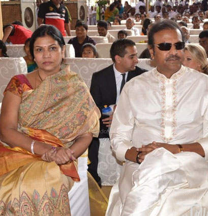 Mohan Babu and his wife: