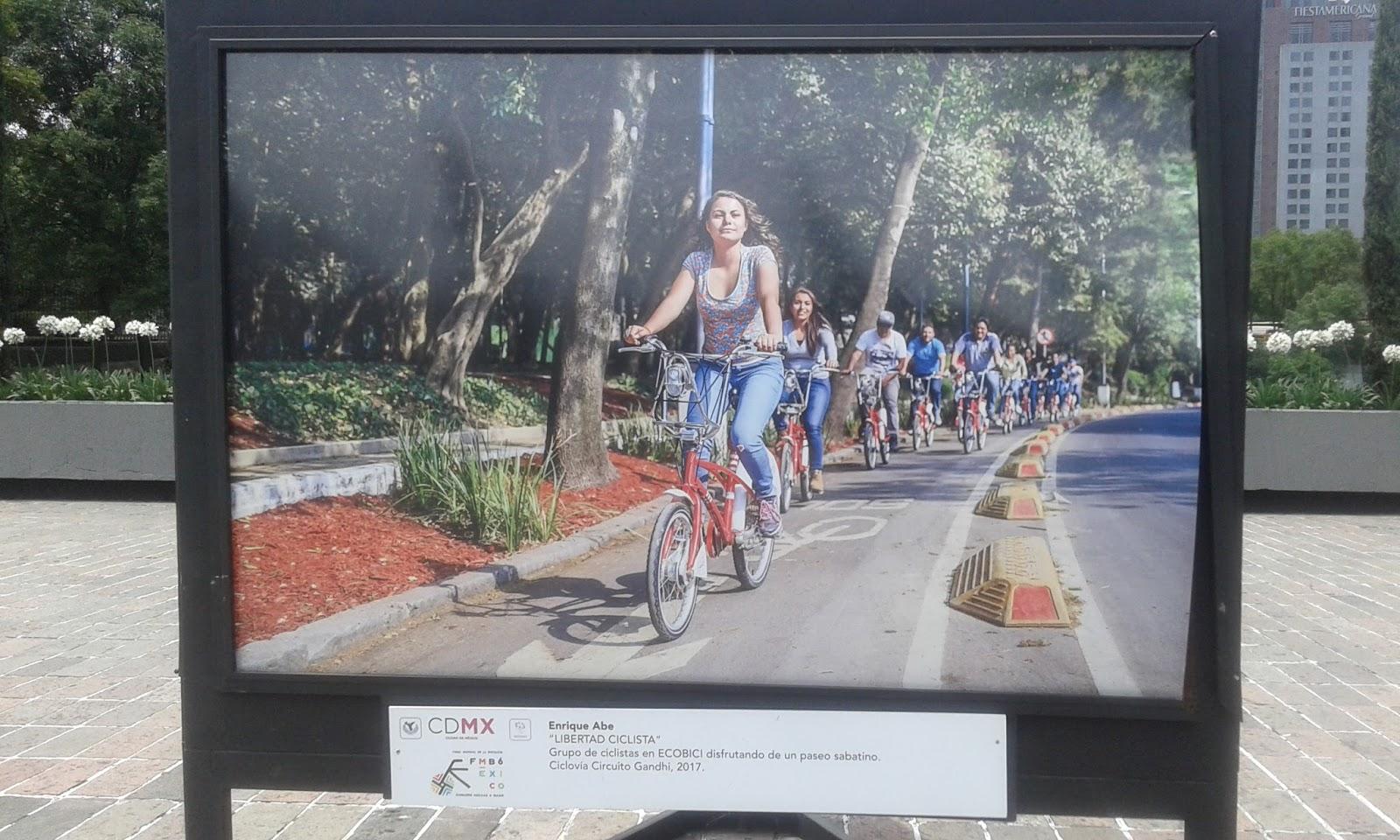 Circuito Gandhi : Reflejos ciclistas. exposición fotográfica