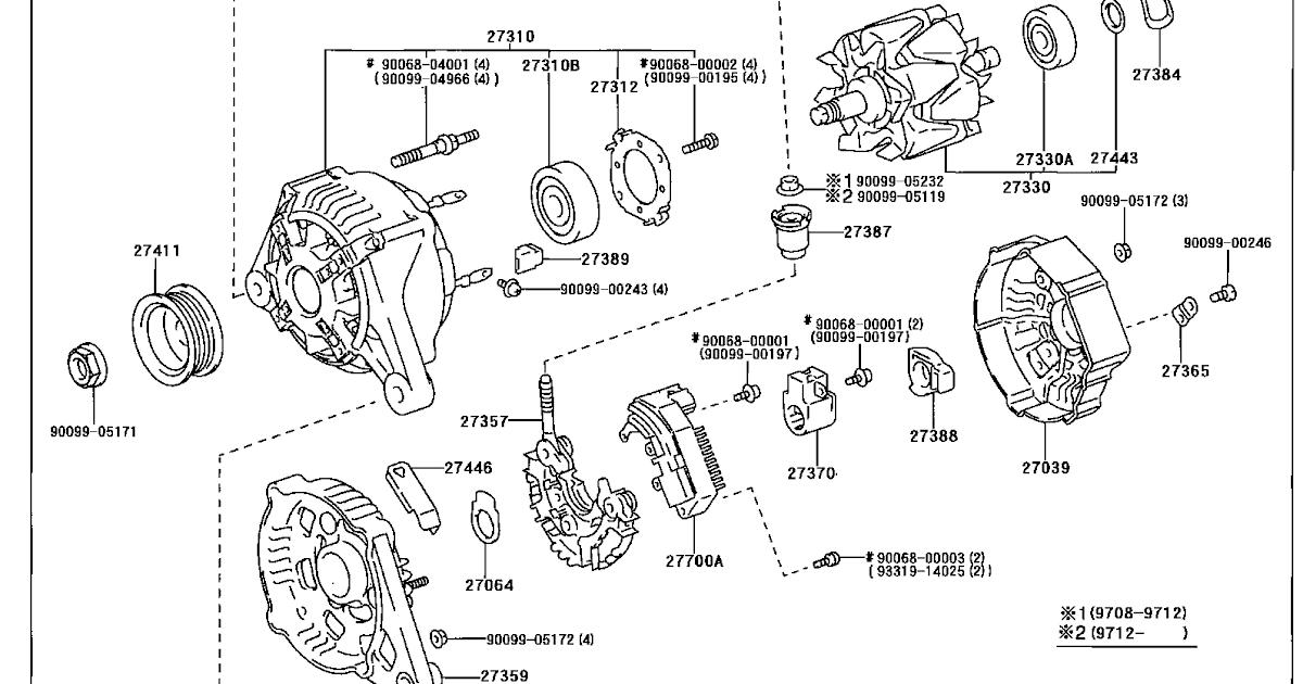 engine diagram corolla