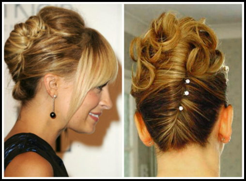 Online Hair Style: Latest Easy Updos For Thin Hair