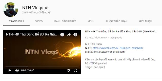 Show thu nhập từ youtube