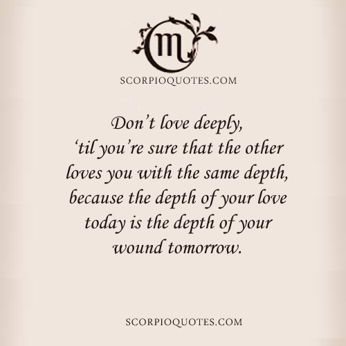Don't Love Deeply, 'Til You're Sure That The Other Loves You With