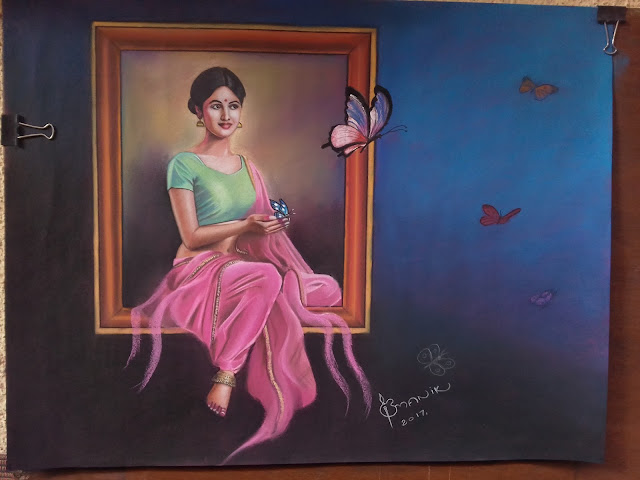 colour pencil work by bmanikarts.in -want to fly