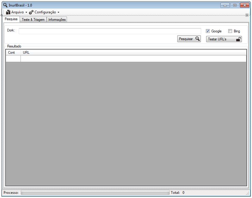 Estou fazendo uma ferramenta para os estudiosos das Dorks & SQL injection.