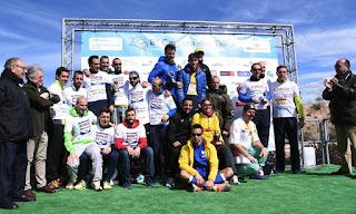 El podio del equipo ASBOC-Nubecar, en el número de mayo de la revista de Aceim