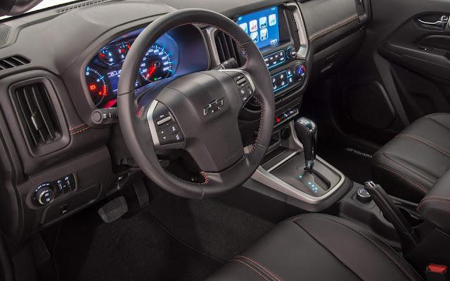 Chevrolet S-10 2018 Flex Automática: preços -  interior