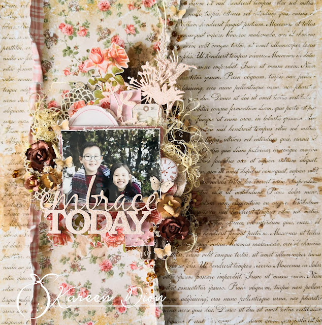 Layout - piękno scrapbookingu / A layout - the beauty of scrapbooking
