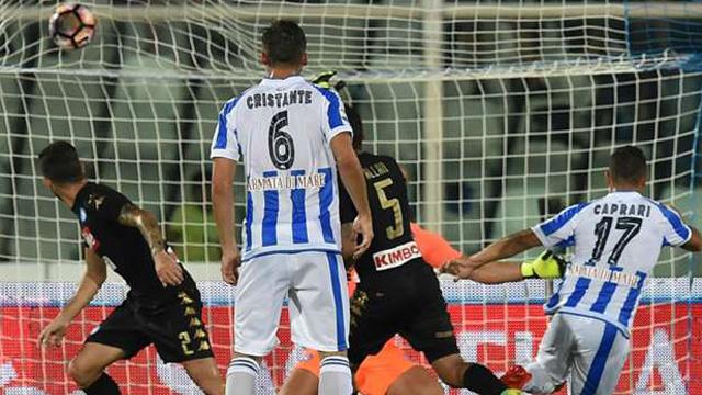 [Video] Cuplikan Gol Pescara 2-2 Napoli (Liga Italia)
