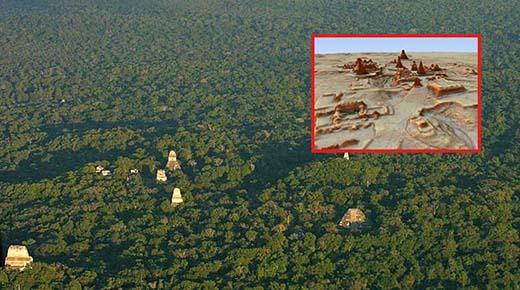Escaneos con láser revelan Megalópolis Maya bajo la selva Guatemalteca