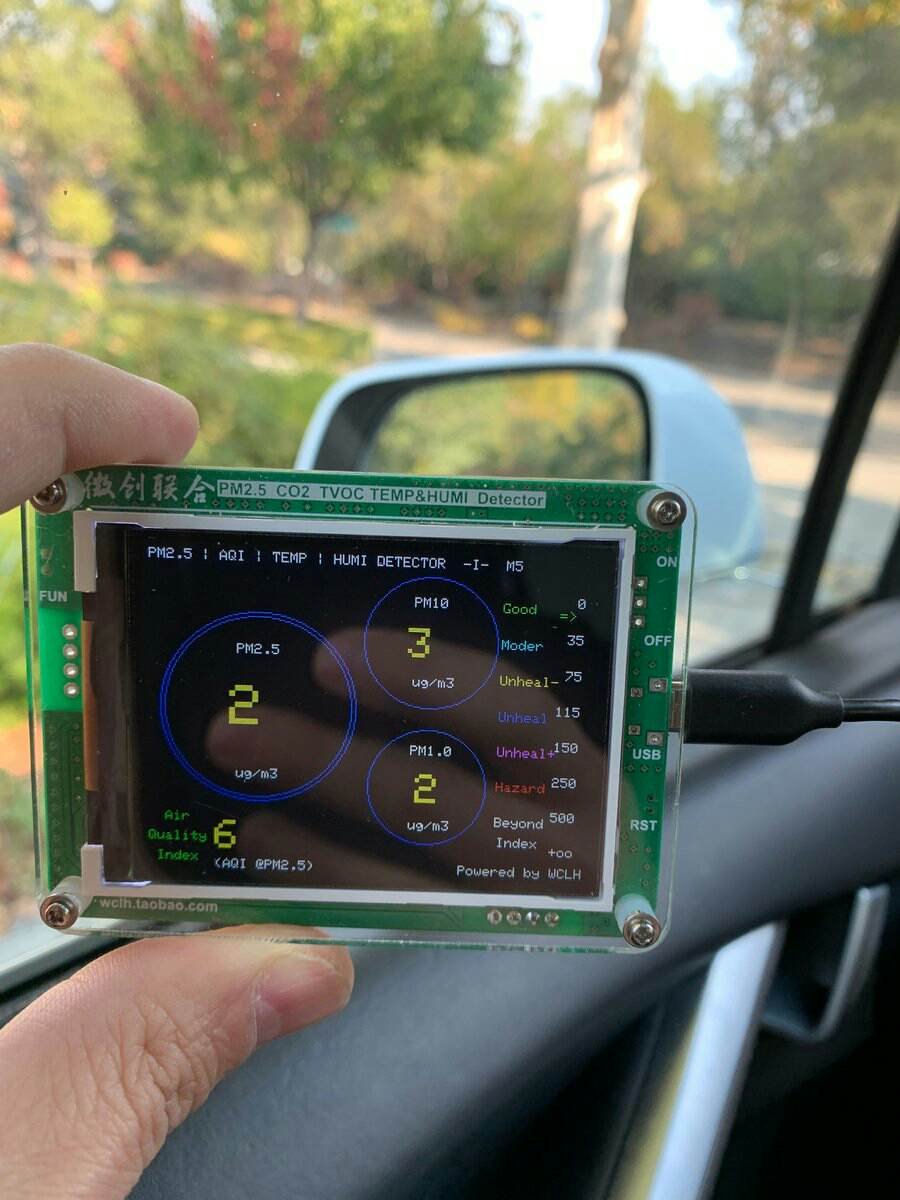Tesla Model X Bioweapon Defense Mode detect air quality outside car