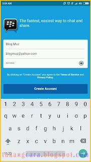 Daftar akun BBM ID Dengan Email Yahoo