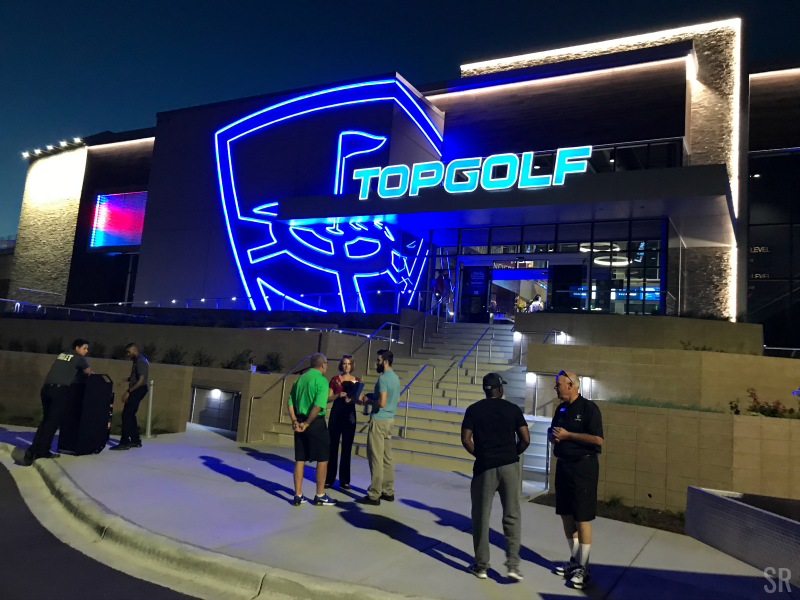 TOPGOLF Minneapolis at night
