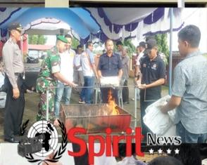Ketua KPU Sulsel,Saksikan Pembakaran Surat Suara 1.137 di KPUD Takalar