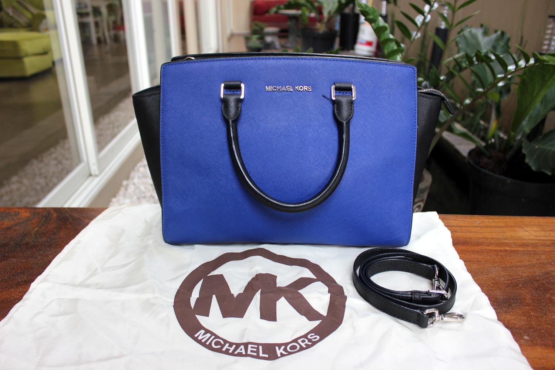 369c176f148b Verish Bags: Michael Kors Selma Large Bicolor Blue / Black
