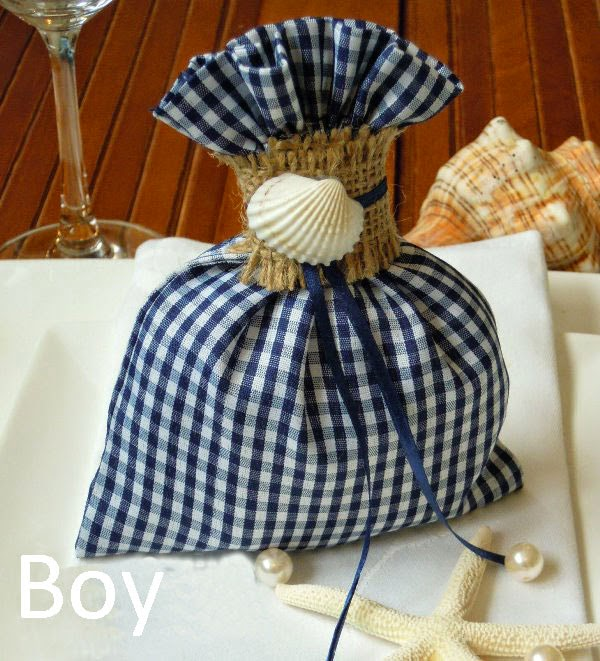 Favors for boy's Greek baptism