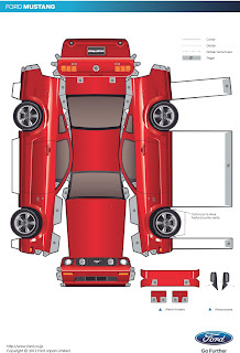 Sp Papel Modelismo Papercraft Ford Mustang