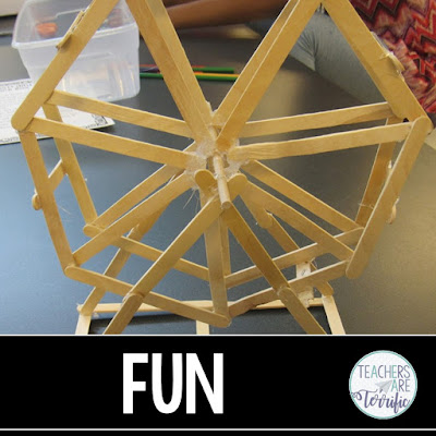 STEM Challenge - Build a spinning Ferris Wheel!
