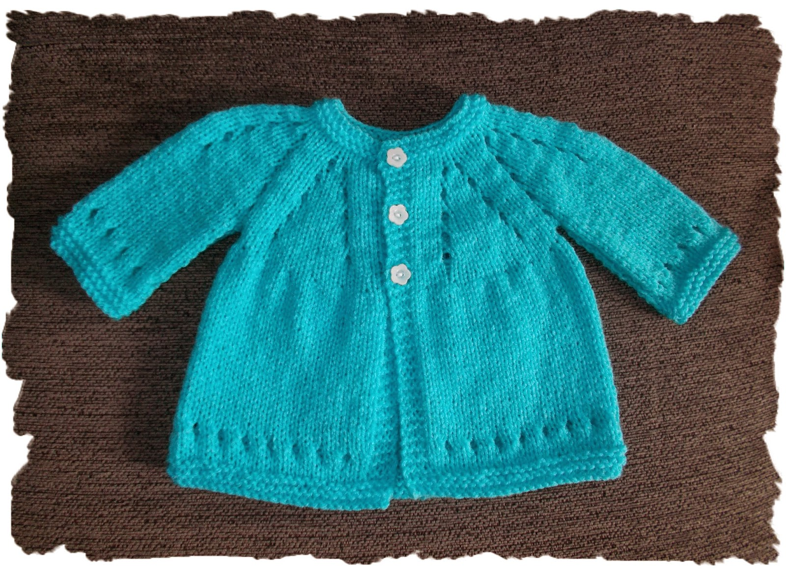 Knitting Pattern All In One Baby Cardigan : mariannas lazy daisy days: Mariannas Famous Top-Down ~ with Sleeves