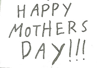 Text of child's handwriting sayin Happy Mother's Day