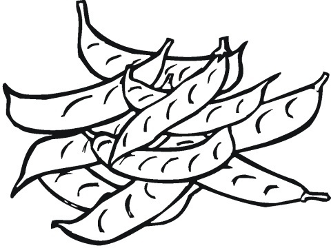 Peas Coloring Pages To Girls | Fantasy Coloring Pages